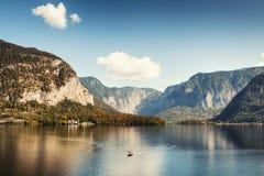 Lago Hallstatter in alpi austriache Fotografia Stock