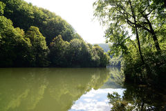 Lago Hamori - Lillafured, Hungria Fotografia de Stock Royalty Free