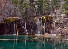 Lago hanging en el barranco de Glenwood, Colorado foto de archivo libre de regalías