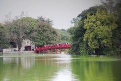 Lago Hanoi, Vietnam Hoan Kiem Fotografia Stock Libera da Diritti
