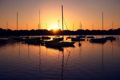 Lago Harriet en la salida del sol Fotos de archivo libres de regalías