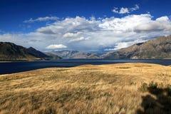 Lago Hawea Foto de Stock Royalty Free