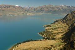 Lago Hawea, alpi del sud, Nuova Zelanda Immagini Stock