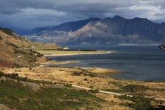 Lago Hawea, Nueva Zelandia Fotos de archivo libres de regalías