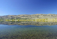 Lago Hawea, Nuova Zelanda immagini stock libere da diritti