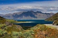 Lago Hawea Nuova Zelanda Fotografia Stock Libera da Diritti