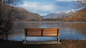 Lago Hayes, Queenstown, Otago, Nova Zelândia imagens de stock