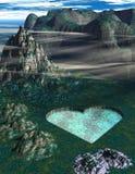 Lago heart ilustración del vector