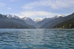 Lago heaven di Tianshan Fotografia Stock Libera da Diritti