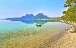 Lago Heraion - Vouliagmeni Loutraki Grecia fotografia stock
