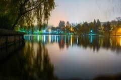 Lago Herastrau immagini stock libere da diritti