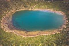 Lago hermoso de Sete Cidades, Azores, Portugal Europa Fotos de archivo