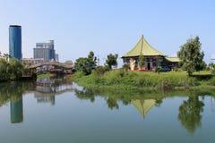 Lago hermoso en Batumi, Georgia fotos de archivo libres de regalías