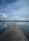 Lago hermoso en Dinamarca Foto de archivo libre de regalías