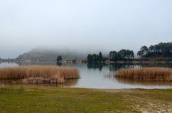 Lago hermoso en Grecia Fotos de archivo libres de regalías