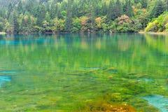 Lago hermoso en jiuzhaigou Fotos de archivo