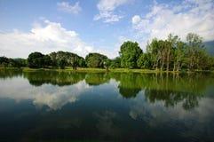 Lago hermoso en Taiping Imagenes de archivo