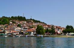 Lago hermoso Ohrid Fotos de archivo libres de regalías