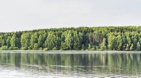Lago hermoso Serbia Vlasina en verano Foto de archivo