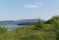 Lago hermoso Serbia Vlasina en verano Imagen de archivo
