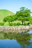 Lago hermoso y parque ajardinado Foto de archivo
