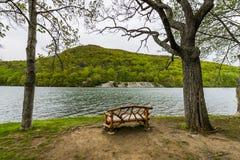 Lago hessian en montaña del oso en el norte del estado Nueva York imagen de archivo