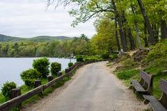 Lago hessian en montaña del oso en el norte del estado Nueva York fotografía de archivo