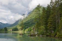 Lago Hintersee Fotografie Stock Libere da Diritti