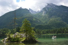 Lago Hintersee Fotografia Stock