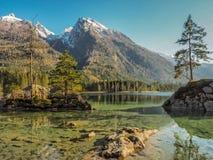 Lago Hintersee al distretto della terra di Berchtesgadener, Germania fotografie stock