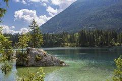 Lago Hintersee in alpi austriache, Europa Fotografia Stock Libera da Diritti