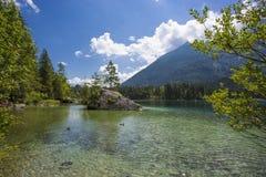Lago Hintersee in alpi austriache, Europa Fotografia Stock