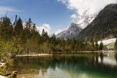 Lago Hintersee nelle alpi bavaresi Fotografia Stock Libera da Diritti