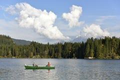 Lago Hintersee a Ramsau, Baviera, Germania Fotografia Stock