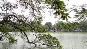 Lago Hoan Kiem, Ha do Noi, Vietnam Imagens de Stock