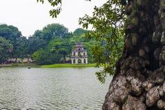 Lago Hoan Kiem, Hanoi Fotografie Stock Libere da Diritti