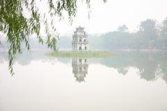 Lago Hoan Kiem, Vietnam Fotografia de Stock Royalty Free