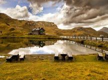 Lago Hohe Tauern Fuscher del parco nazionale, Austria Fotografia Stock
