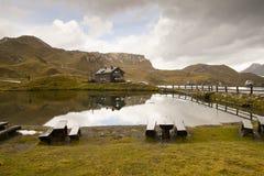 Lago Hohe Tauern Fuscher del parco nazionale, Austria Fotografie Stock Libere da Diritti