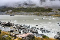 Lago hooker, Nova Zelândia fotos de stock royalty free