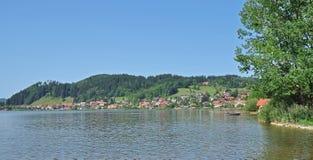 Lago Hopfensee, Allgaeu, Baviera, Germania Fotografia Stock