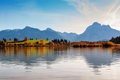 Lago Hopfensee Baviera, Alemanha Foto de Stock