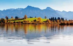 Lago Hopfensee Baviera, Alemanha Fotografia de Stock Royalty Free