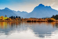 Lago Hopfensee Baviera, Alemanha Imagens de Stock Royalty Free