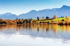 Lago Hopfensee Baviera, Alemanha Imagens de Stock