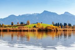 Lago Hopfensee Baviera, Alemanha Foto de Stock Royalty Free