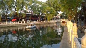 Lago Houhai Beihai imagens de stock royalty free