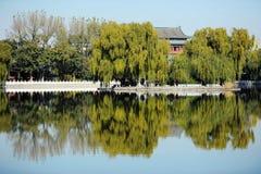Lago Houhai, Pechino fotografie stock