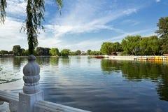 Lago Houhai, Pechino, Cina Fotografie Stock Libere da Diritti