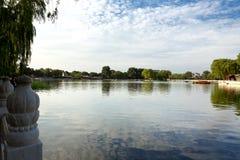 Lago Houhai, Pechino, Cina Fotografia Stock Libera da Diritti
